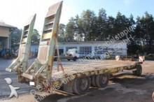 used Goldhofer heavy equipment transport trailer