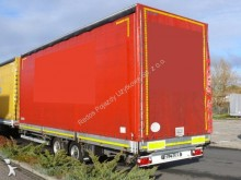 used Gniotpol dropside flatbed tarp trailer