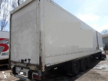 damaged Krone box trailer