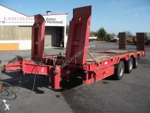 used Louault heavy equipment transport trailer