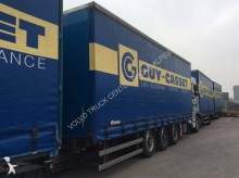 used Samro dropside flatbed tarp trailer