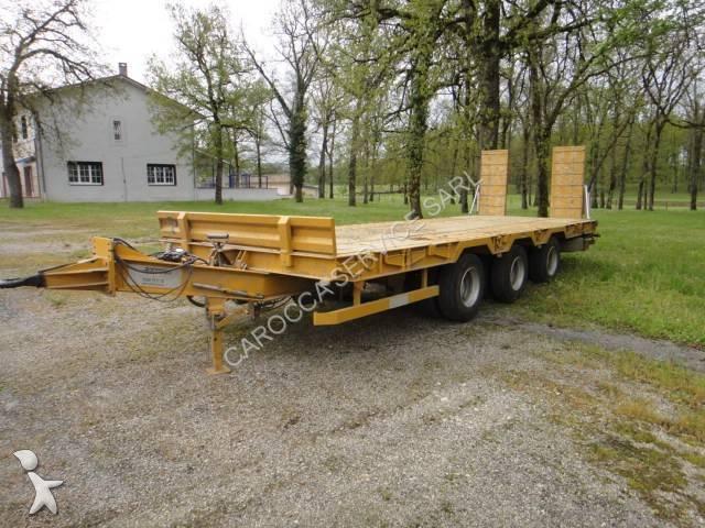 Remorque louault porte engins r3cb18 25 3 essieux occasion - Remorque porte engin agricole occasion ...