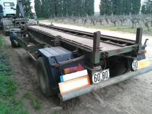 used Fruehauf hook lift trailer