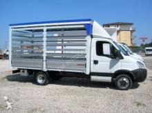 used Iveco tarp covered bed flatbed van