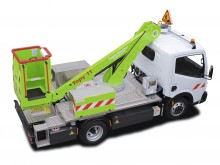 new telescopic platform commercial vehicle