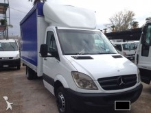 used Mercedes tarp covered bed flatbed van