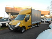 Renault tarp covered bed flatbed van