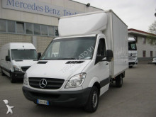 Mercedes tarp covered bed flatbed van