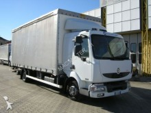 used Renault tarp covered bed flatbed van