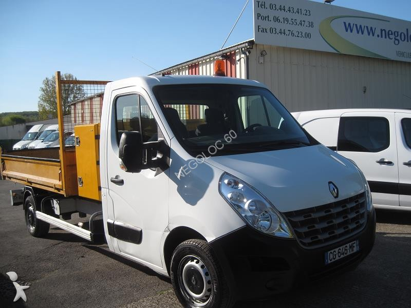 fourgon utilitaire renault master 2 3 dci 125 cv regulateur benne 3 15m   coffre occasion