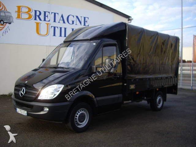 utilitaire plateau mercedes sprinter 313 cdi 37 3t5 plateau bache coulisante options occasion. Black Bedroom Furniture Sets. Home Design Ideas