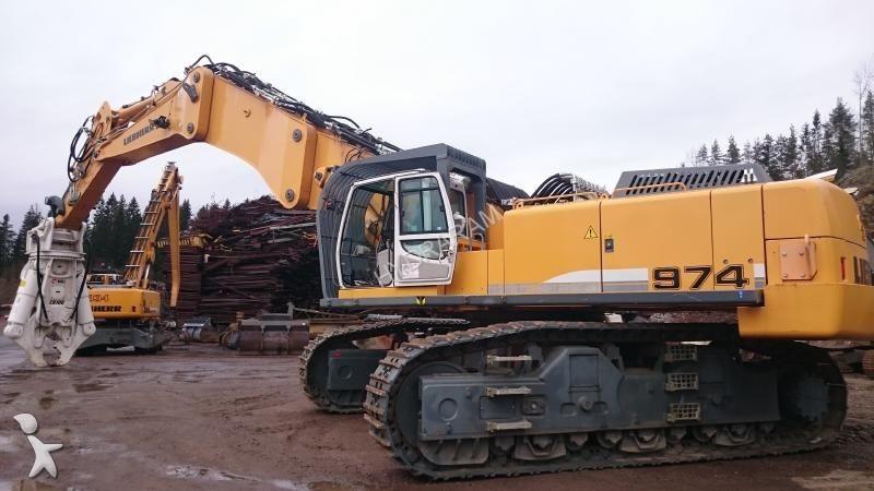 Used Liebherr Demolition Excavator 974