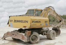 Zeppelin wheel excavator