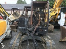 damaged mini excavator