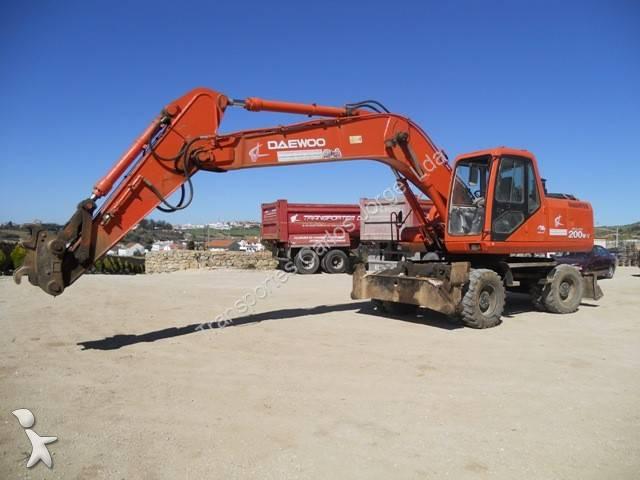 Used Daewoo wheel excavator SL 200 W - n°512679