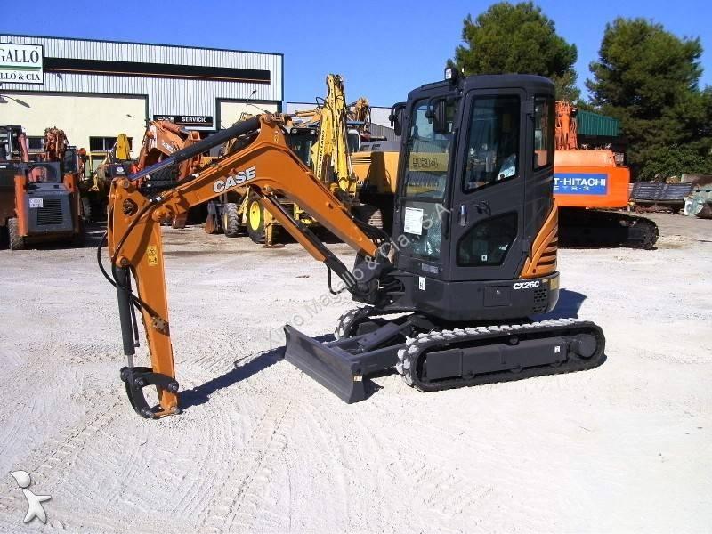 excavadora de cadenas case cx26c nueva