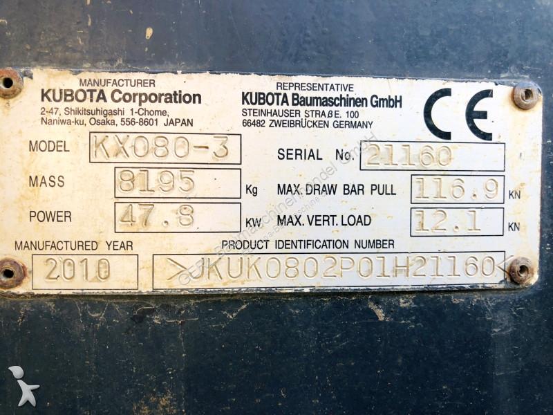Used Kubota mini excavator KX080-3 - n°2877297