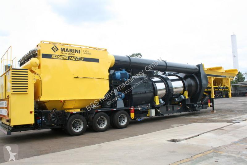 Marini Magnum 140 mobile asphalt plant concrete
