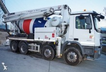 used concrete mixer + pump truck