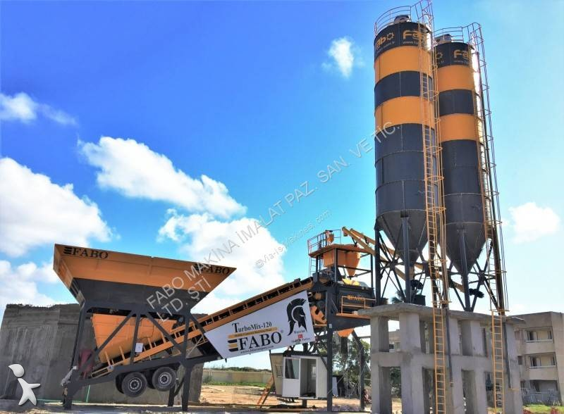 Betoniera Fabo  turbomix-120m3/h mobile concrete batching plant|centrale a beton mobile| full automatic