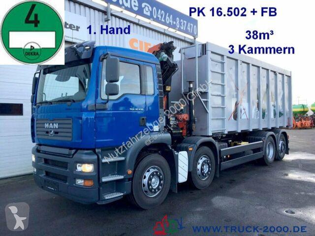 Utilaje pentru drumuri MAN TGA 35.430  Wertstoff Glas Metall Recycling