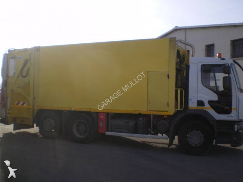 Camion benne ordures m nag res renault premium euro 4 for Location benne a ordure