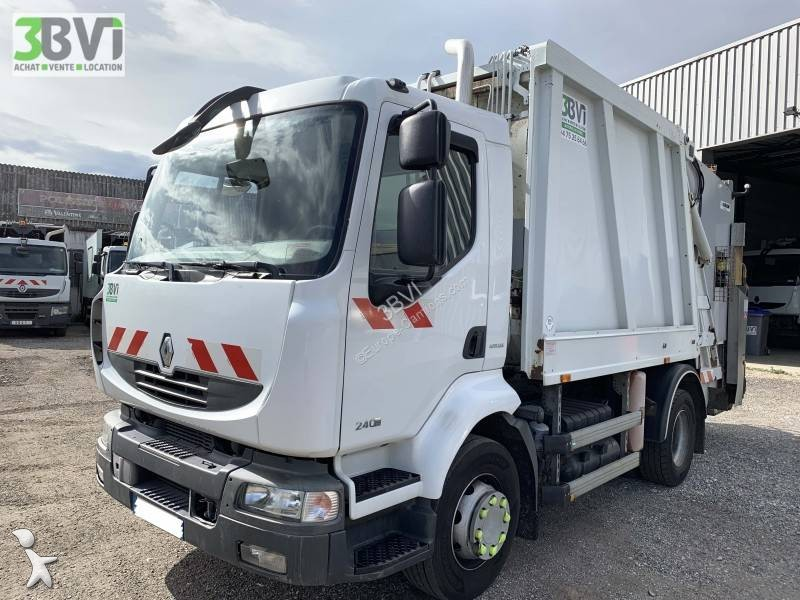 Camion benne ordures m nag res renault midlum dxi for Une benne a ordure