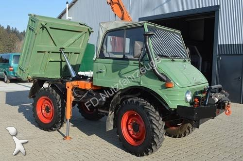 used mercedes forest crane unimog 421 cabrio mit kran seilwinde kipper kraftheber uvm n. Black Bedroom Furniture Sets. Home Design Ideas