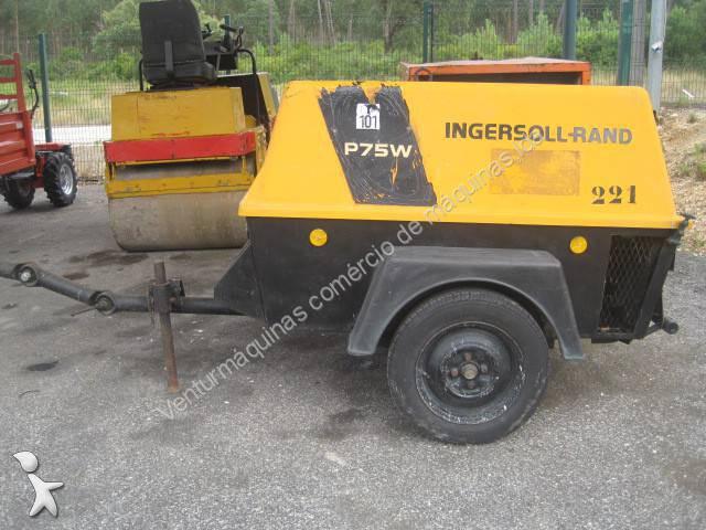 mat 233 riel de chantier compresseur occasion ingersoll rand nc p75w l annonce n 176 1308044