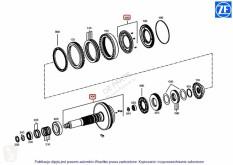 Case Autre pièce détachée de transmission WAŁ SPRZĘGŁA KOMPLETNY NEW HOLLAND TVT CVT CVX 84556491 OEM ZF ZF pour tracteur NEW HOLLAND