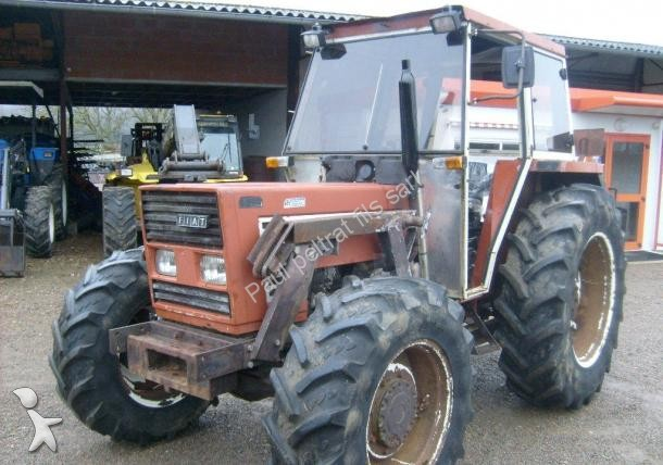 tracteur agricole fiat 766 dt avec chargeur cabine inverceur occasion n 1568927. Black Bedroom Furniture Sets. Home Design Ideas