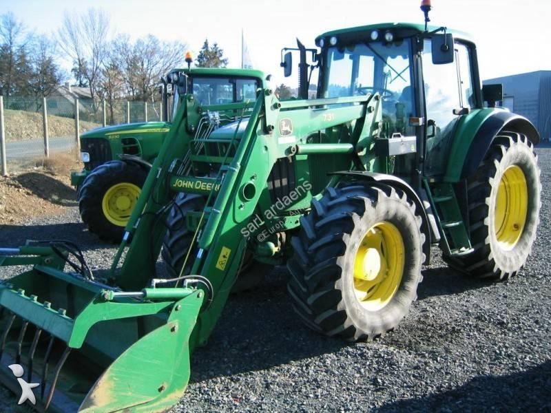 tracteur agricole john deere 6820 chargeur fourche godet