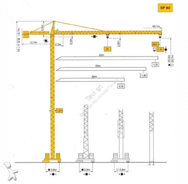 Potain SP80 crane