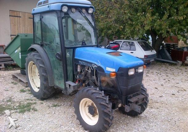 tracteur vigneron new holland tn75v occasion