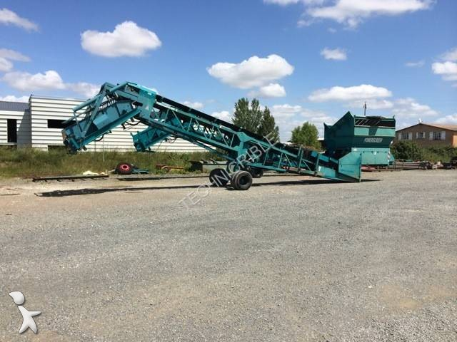 Powerscreen MK2 crushing, recycling
