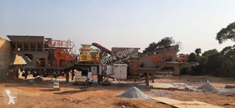 Constmach Mobile Jaw + Cone Crusher crushing, recycling