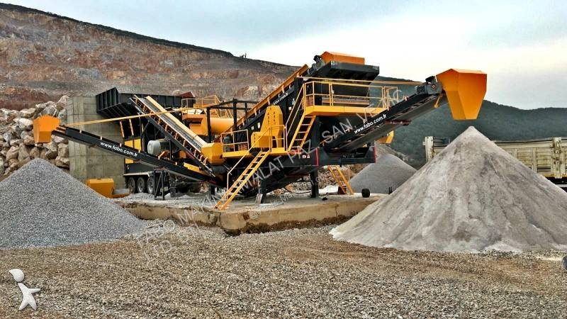 Concasare, reciclare Fabo  pro-150 mobile crushing&screening plant concassage et criblage mobile calcaire/limestone pret en stock turbo impact crusher