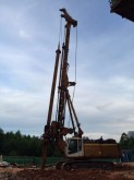 Bauer drilling vehicle drilling, harvesting, trenching equipment