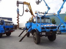 Unimog drilling vehicle drilling, harvesting, trenching equipment