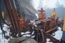 Tamrock Zoomrail drilling, harvesting, trenching equipment