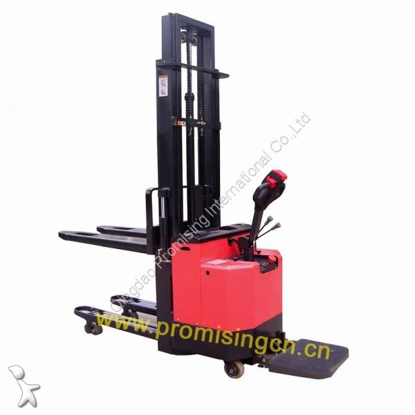 Dragon Machinery TB10A-30 Double Pallet Electric Stacker with liftable wheels pallet truck