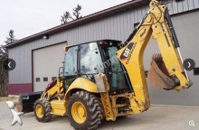Caterpillar mini backhoe loader