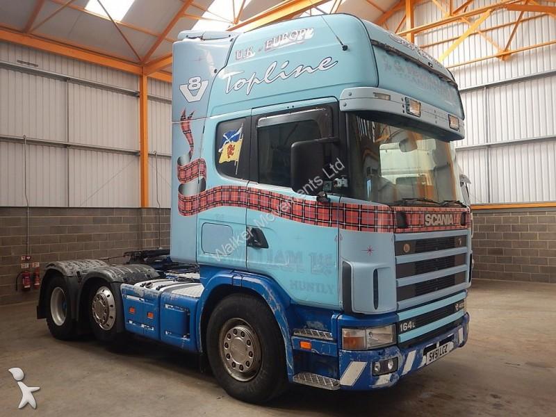 tracteur scania standard r164l v8 topline 6 x 2 tractor unit 2003 sv51 lcz 6x2 euro 3. Black Bedroom Furniture Sets. Home Design Ideas