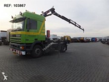 cabeza tractora DAF 95.400 ATI MANUAL WITH HIAB 160 NL REGISTRATION