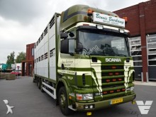 cabeza tractora Scania 114G 2 deks veewagen FULL STEEL SUSPENSION