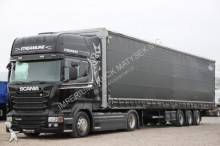 Scania R - 450/ETADE/EUO 6/LOW DECK+KOGEL/FIANKA/MEG + semi emoque ideaux coulissants (plsc) tractor unit