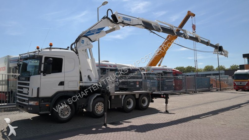 Scania 164 G/580 V8 WITH EFFER 920 6S CRANE WITH JIB 4S 467.000KM tractor unit