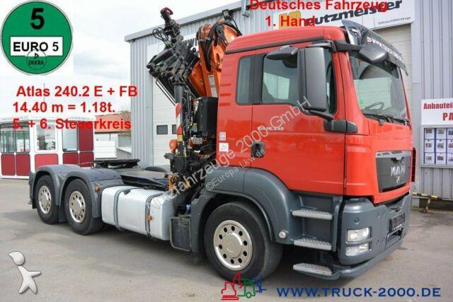 MAN TGS 26.440 6x4 Atlas 240.2E Kran 14.4m = 1.18t Sattelzugmaschine