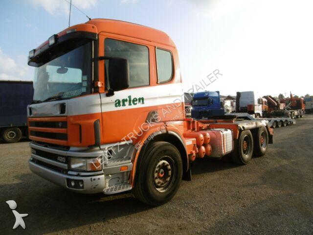 Tracteur Scania P420-6X4-APACHSEN-BLATT-MANUAL-RETARDER
