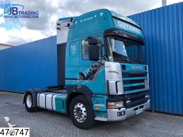 Tracteur Scania 124 420 Topline, Manual, Retarder, Analoge tachograaf